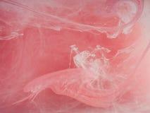 抽象背景上色了 彩色烟幕,墨水在水中,宇宙的样式 抽象运动,结冰 库存照片