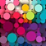 抽象背景五颜六色几何 库存图片