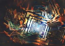 抽象背景五颜六色几何 库存照片