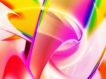 抽象背景五颜六色发光 皇族释放例证