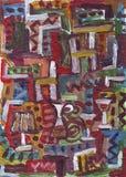 抽象背景五颜六色手画 免版税库存图片