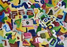抽象背景五颜六色手画 图库摄影