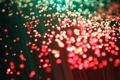 抽象背景五颜六色的光纤 库存照片
