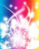 抽象背景五颜六色的发光的光 免版税库存图片