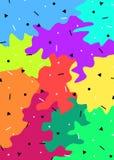 抽象背景五颜六色的形状 向量例证