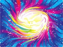 抽象背景五颜六色的彩虹闪闪发光 免版税库存图片