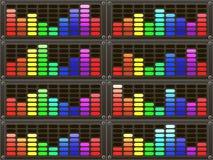 抽象背景五颜六色的彩虹 库存照片
