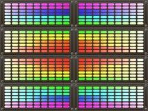 抽象背景五颜六色的彩虹 库存图片