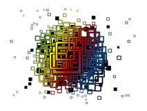 抽象背景五颜六色的正方形 免版税库存图片