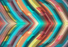 抽象背景五颜六色的着色容易的文件几何层状处理向量 库存例证