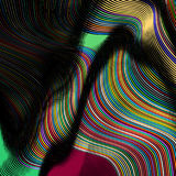 抽象背景五颜六色的线路 免版税库存照片