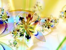 抽象背景五颜六色的花分数维 免版税库存照片