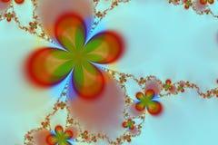 抽象背景五颜六色的花星形 免版税库存图片