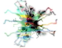 10抽象背景五颜六色的被浓缩的淡色附言 库存照片