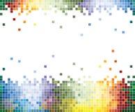 抽象背景五颜六色的象素 免版税库存图片