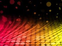 抽象背景五颜六色的迪斯科通知 库存例证
