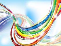 抽象背景五颜六色的闪闪发光 免版税库存照片