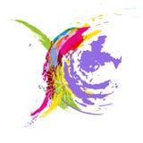 抽象背景五颜六色的水彩 斑点和飞溅 免版税图库摄影