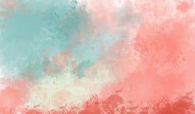 抽象背景五颜六色的水彩 免版税库存照片