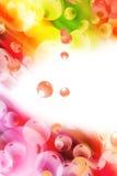抽象背景五颜六色的sbubble形状 库存图片