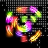 抽象背景五颜六色的techno 免版税库存图片