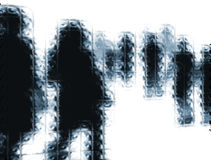 抽象背景人员 免版税库存照片