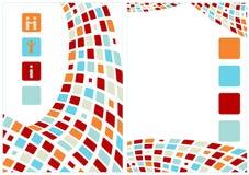 抽象背景企业标签 免版税库存照片
