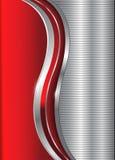 抽象背景企业红色银 免版税库存照片