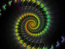 抽象背景例证行动螺旋向量 免版税库存照片