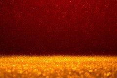 抽象背景充满发光的红色闪烁 库存图片