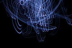 抽象背景光绘的摄影冻结光 库存例证
