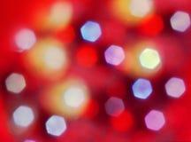 抽象背景六角形光 免版税图库摄影