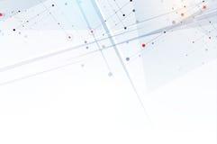 抽象背景六角形 技术多角形设计 Digita 免版税图库摄影