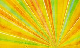 抽象背景几何绿色橙黄色 库存图片