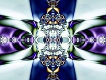 抽象背景分数维绿色紫色 免版税库存照片