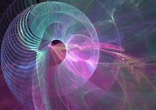 抽象背景分数维螺旋 皇族释放例证