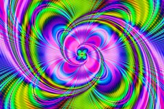 抽象背景分数维 抽象绘画,晴朗的花 向量例证