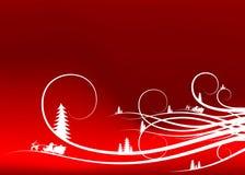抽象背景分类冷杉木圣诞老人现出轮廓冬天 库存图片