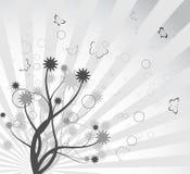 抽象背景分行优美的结构树 库存图片