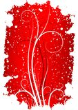 抽象背景剥落grunge红色滚动冬天 库存照片