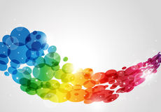 抽象背景加点的彩虹 库存照片