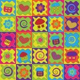 抽象背景动画片五颜六色的房子 库存图片