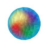 抽象背景包括的三角 免版税库存照片