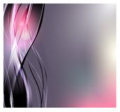 抽象背景向量 做广告的明亮的弯曲的波浪 发光的线路 库存例证