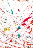 抽象背景和纹理五颜六色水彩飞溅 免版税图库摄影