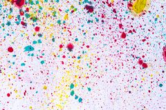抽象背景和纹理五颜六色水彩飞溅 免版税库存照片
