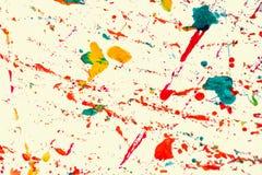 抽象背景和纹理五颜六色水彩飞溅 图库摄影