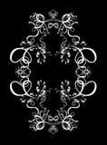抽象背景圆的装饰设计数字式框架 免版税库存照片