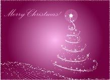 抽象背景圣诞树 库存例证