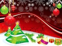 抽象背景圣诞树 图库摄影